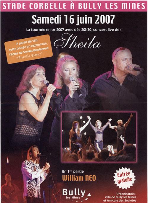 Sheila  en 2007 dans Concert sheila